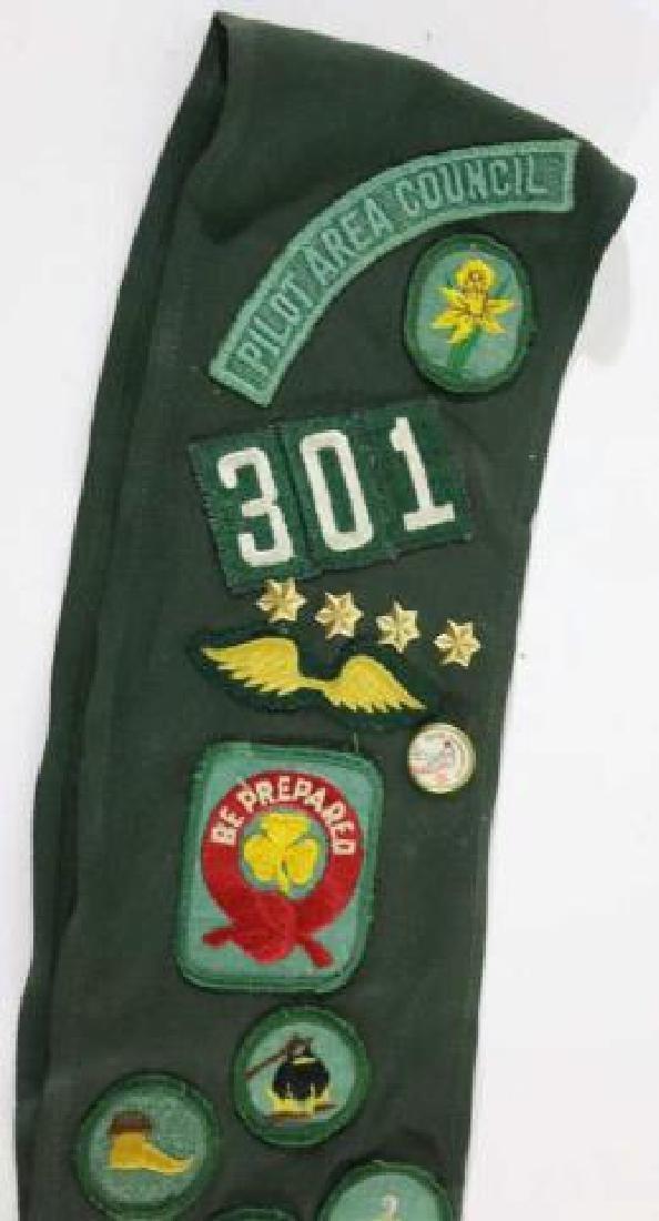 GIRL SCOUT PILOT AREA COUNCIL 301 VINTAGE SASH - 3