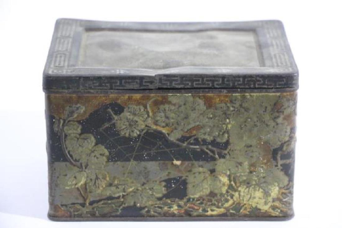 JAPANESE ANTIQUE TOLE TEA  STORAGE BOX