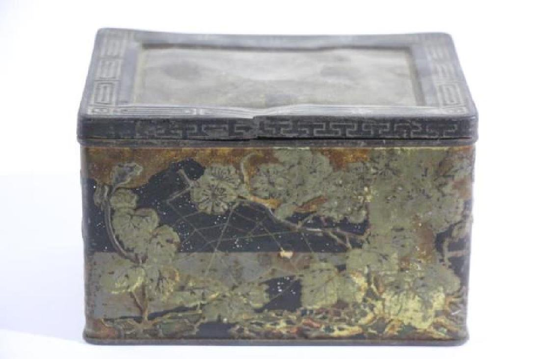 JAPANESE ANTIQUE TOLE TEA  STORAGE BOX - 2