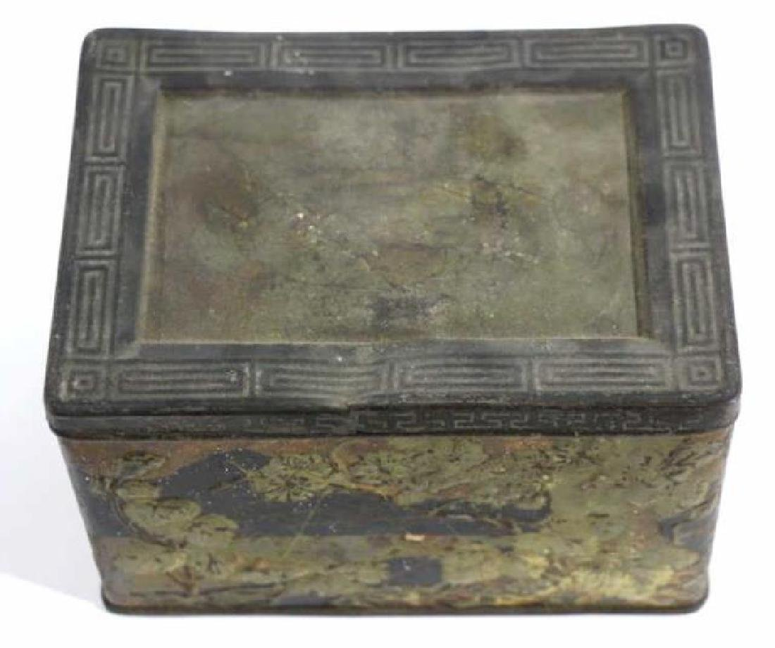 JAPANESE ANTIQUE TOLE TEA  STORAGE BOX - 3