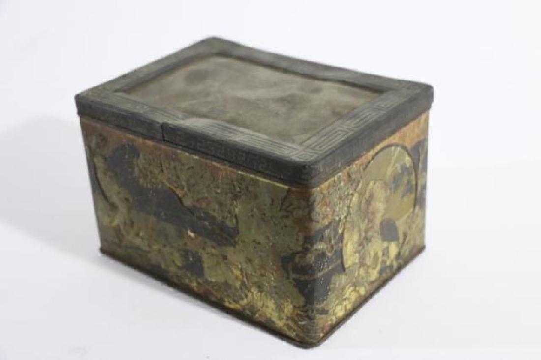JAPANESE ANTIQUE TOLE TEA  STORAGE BOX - 5