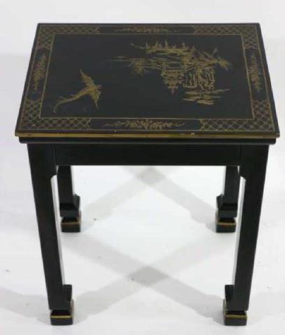 JAPANESE FINE LACQURED ASIAN SIDE TABLE - 2