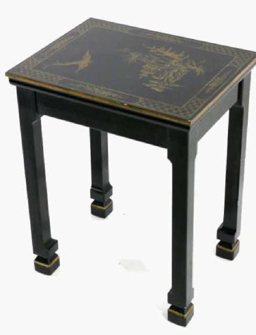 JAPANESE FINE LACQURED ASIAN SIDE TABLE - 4