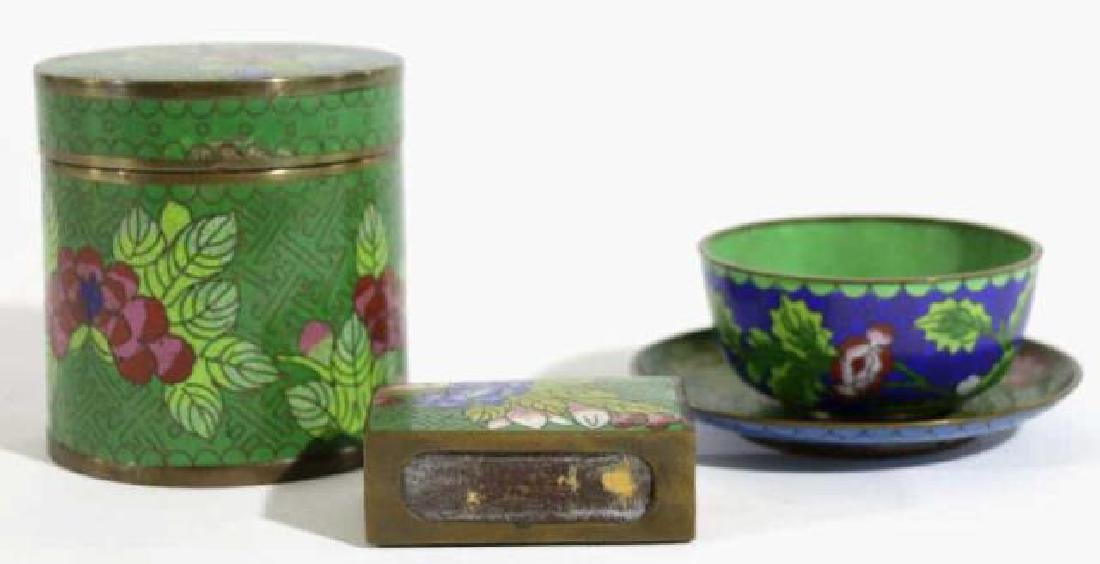 CHINESE CLOISONNE GROUPING - 2