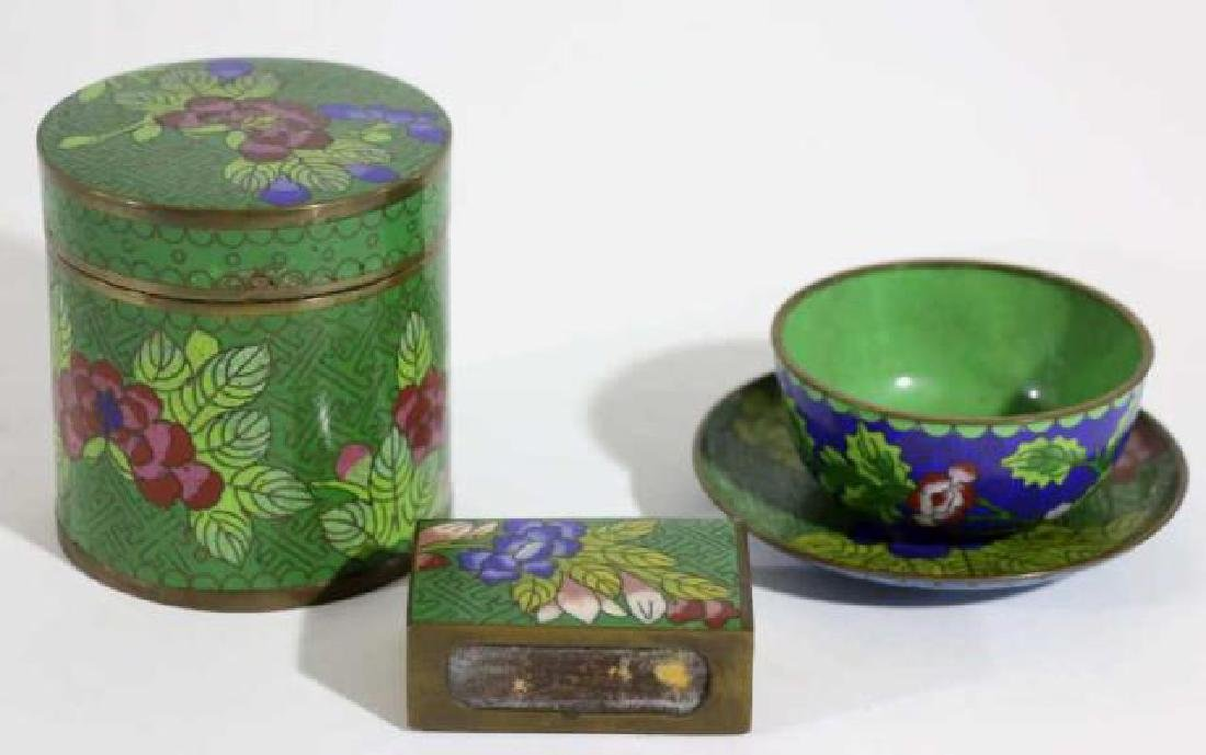 CHINESE CLOISONNE GROUPING - 3