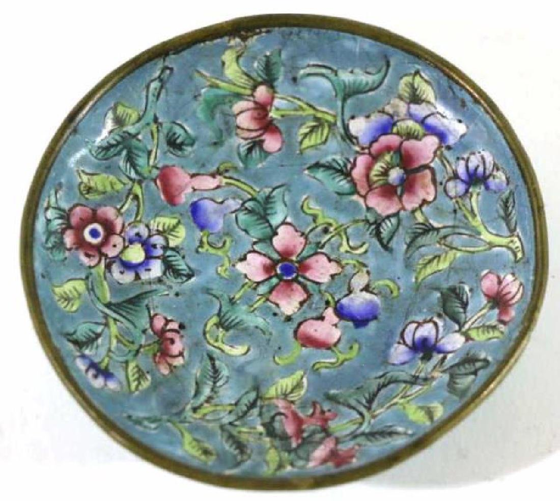 CHINESE CLOISONNE DISH