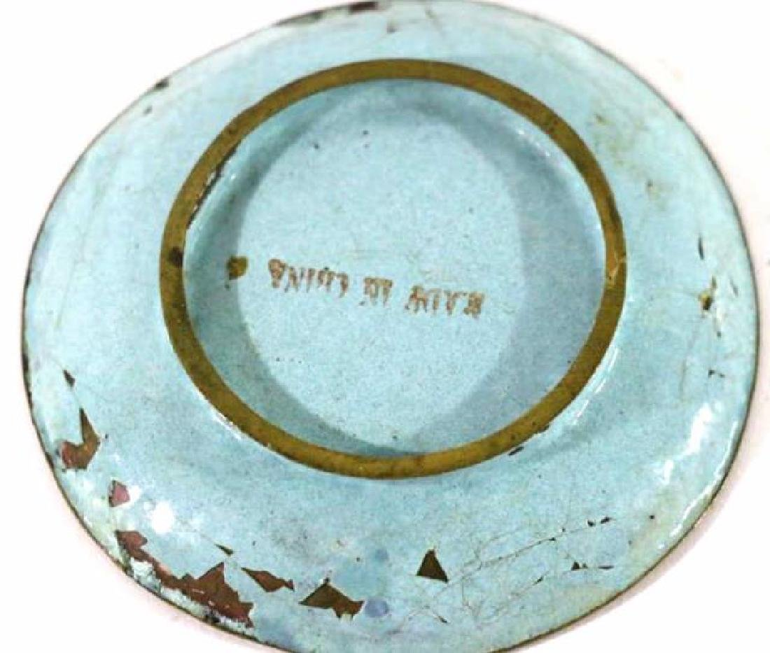 CHINESE CLOISONNE DISH - 2