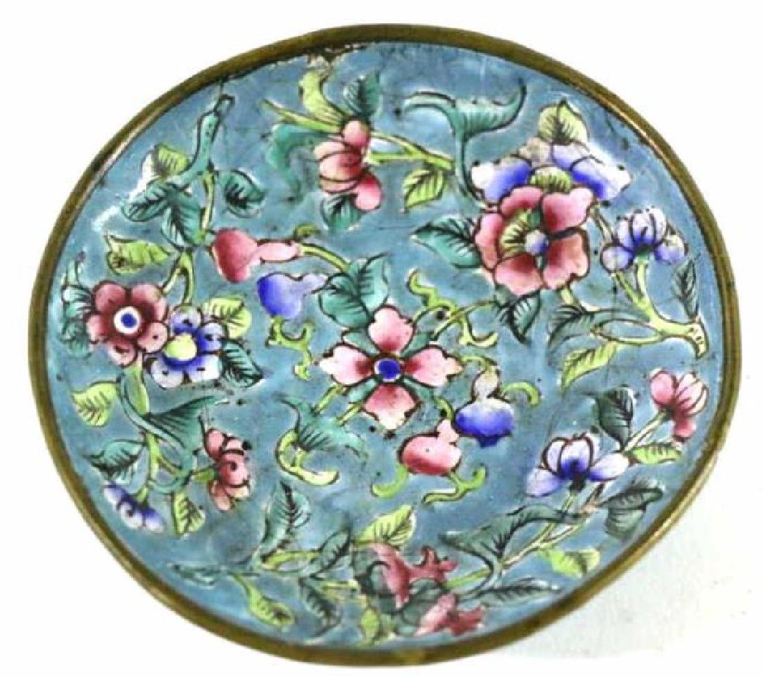CHINESE CLOISONNE DISH - 3