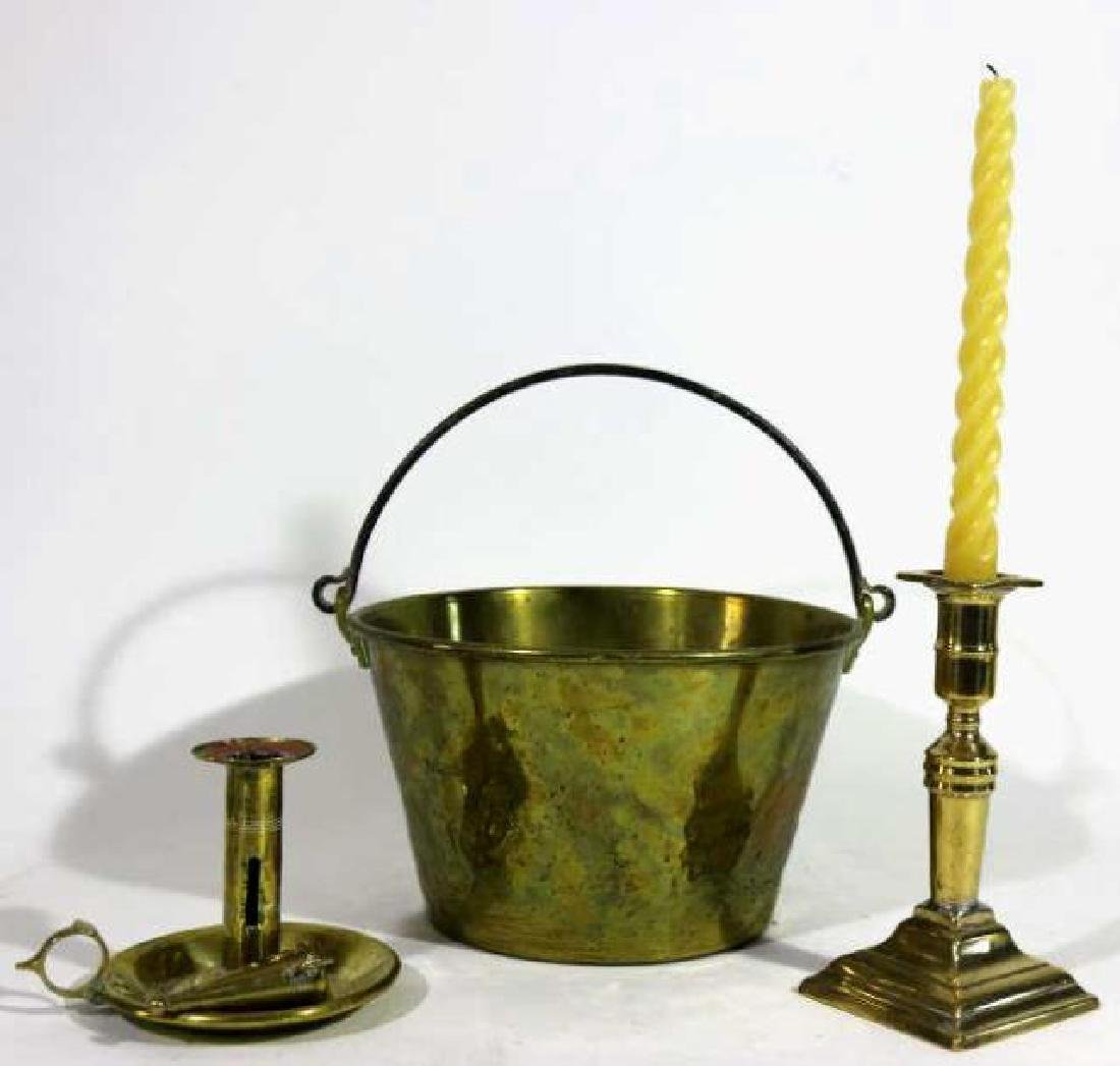AMERICAN ANTIQUE BRASS GROUPING