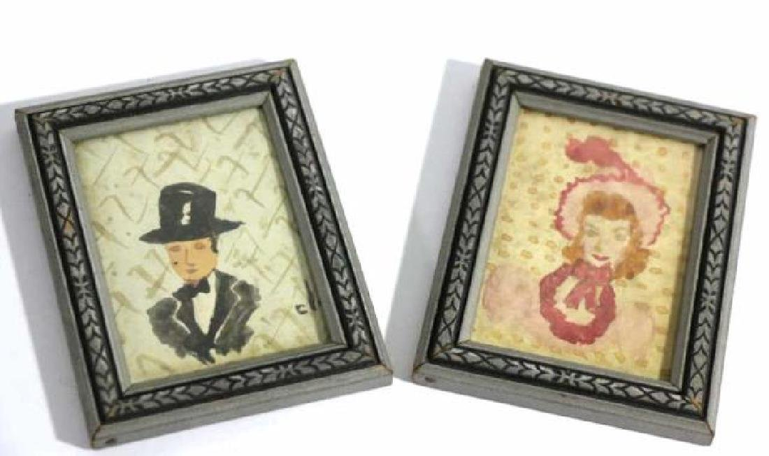 FINE ANTIQUE ORIGINAL  FRAMED SILHOUETTES