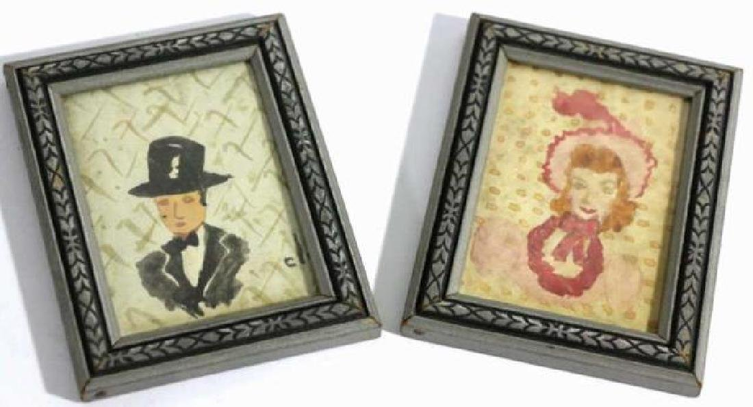 FINE ANTIQUE ORIGINAL  FRAMED SILHOUETTES - 2