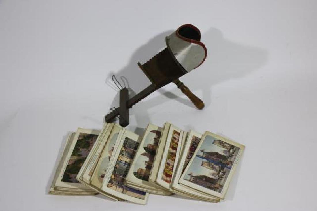 ANTIQUE STEREOSCOPE & VIEWING CARDS - 2