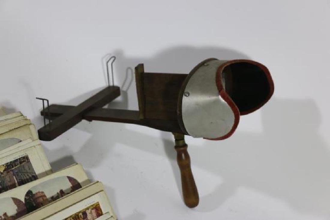 ANTIQUE STEREOSCOPE & VIEWING CARDS - 4