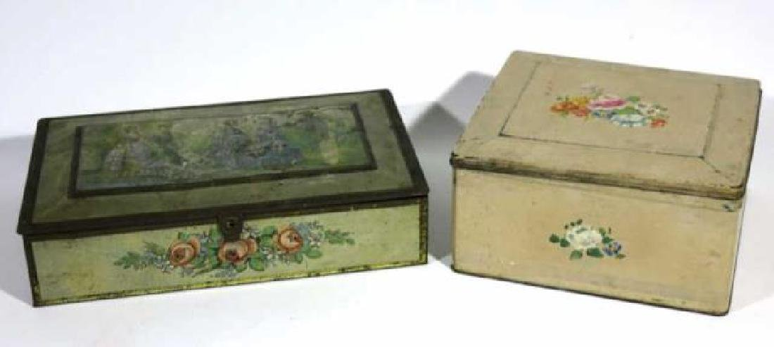 ANTIQUE TOLE BOX GROUPING