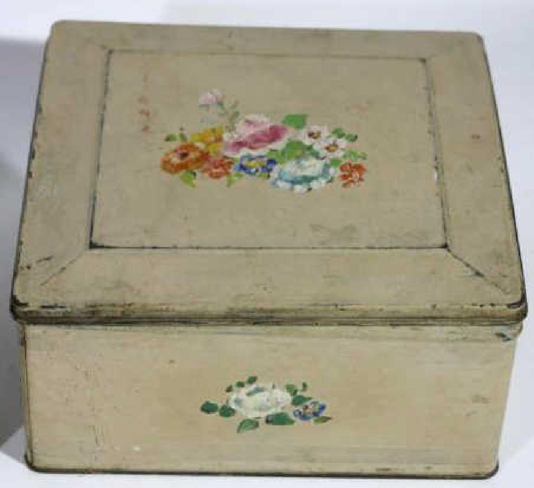 ANTIQUE TOLE BOX GROUPING - 2