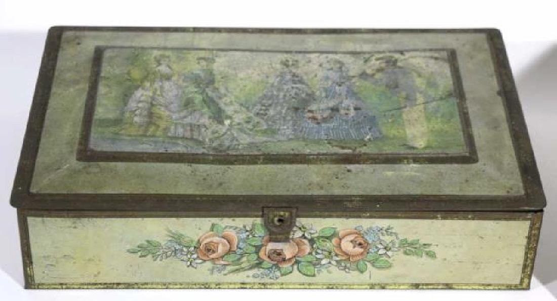 ANTIQUE TOLE BOX GROUPING - 3