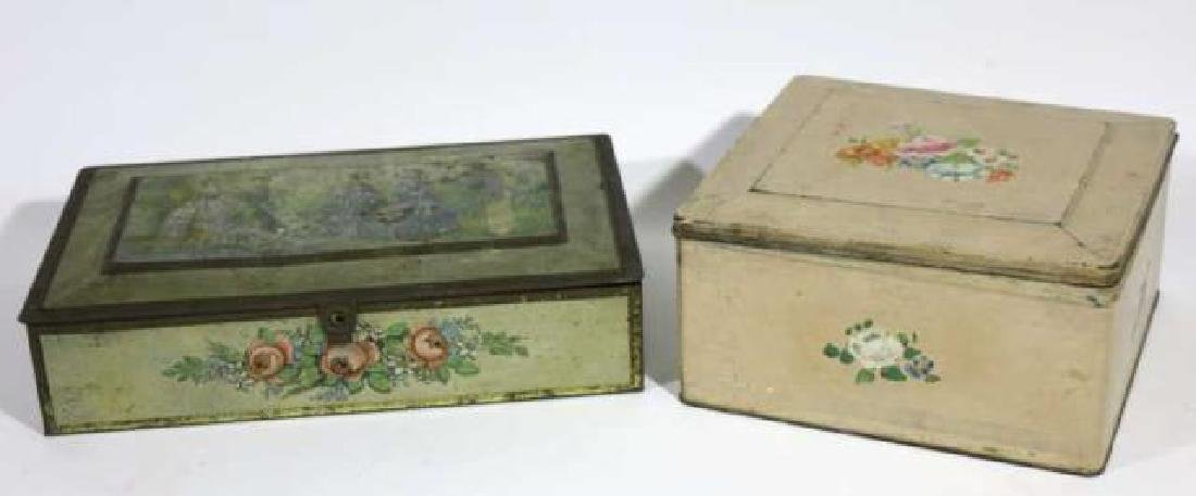 ANTIQUE TOLE BOX GROUPING - 4