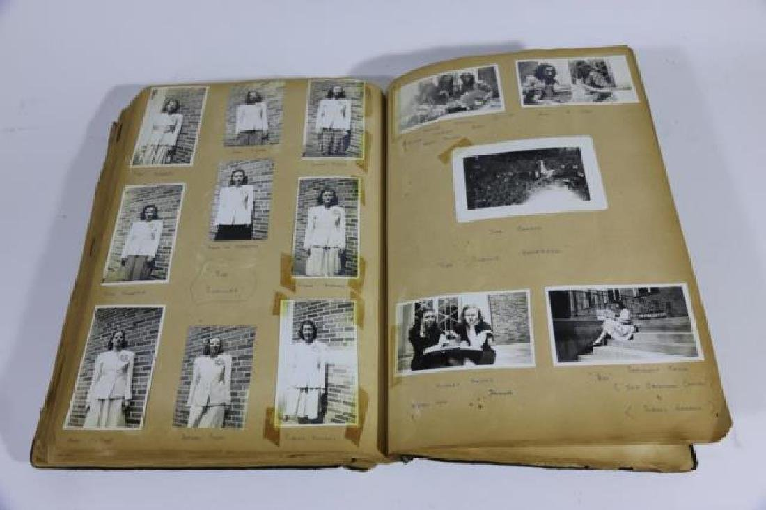 ANTIQUE SCRAPBOOK WITH PHOTOS AND WAR CLIPPINGS - 3