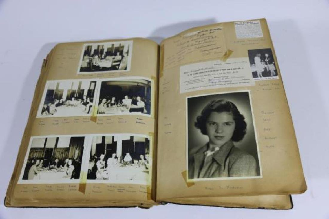 ANTIQUE SCRAPBOOK WITH PHOTOS AND WAR CLIPPINGS - 4