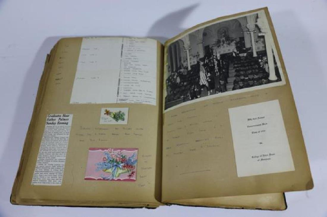 ANTIQUE SCRAPBOOK WITH PHOTOS AND WAR CLIPPINGS - 6