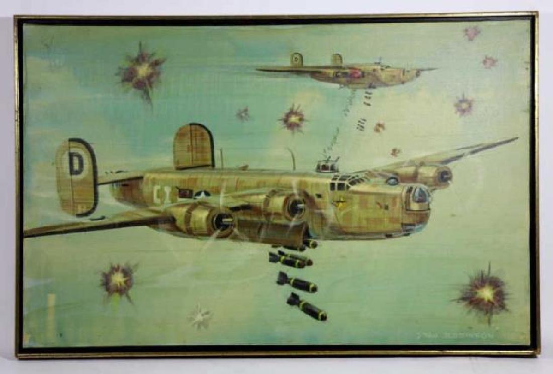 STAN ROBINSON (AMERICAN 1927-1999)RARE WWII BOMBER