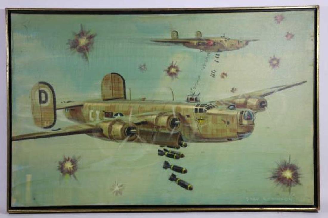 STAN ROBINSON (AMERICAN 1927-1999)RARE WWII BOMBER - 2