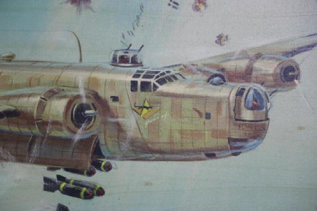 STAN ROBINSON (AMERICAN 1927-1999)RARE WWII BOMBER - 4