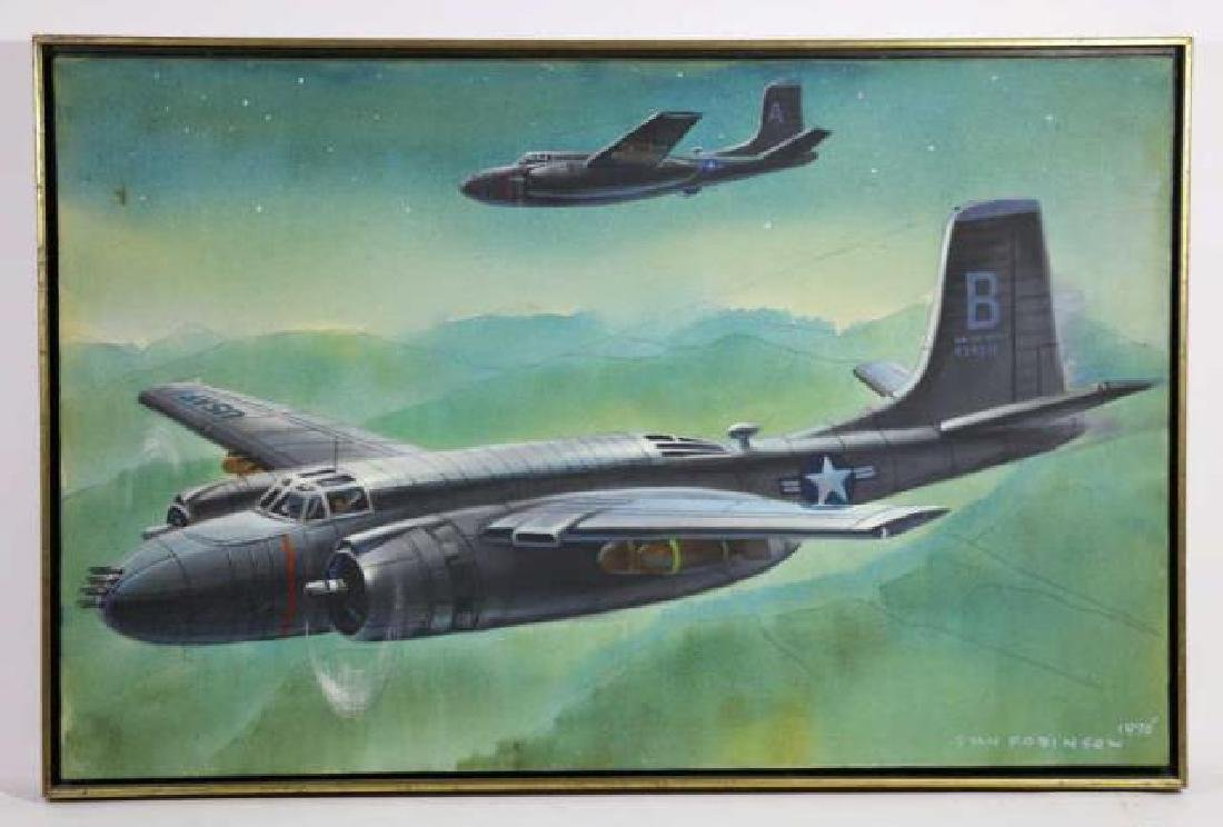 STAN ROBINSON (AMERICAN 1927-1999)RARE WWII BOMBER - 6