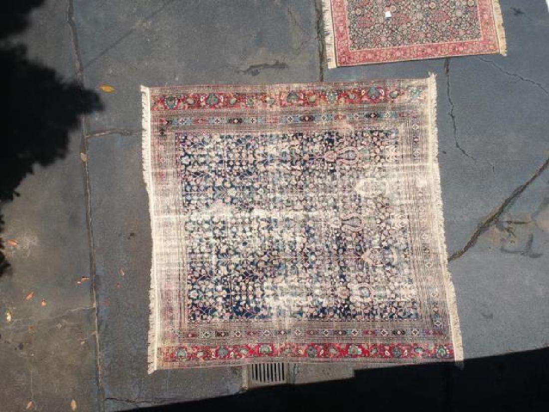 ANTIQUE TURKISH HEREKE WELL WORN ROOM SIZE RUG - 3