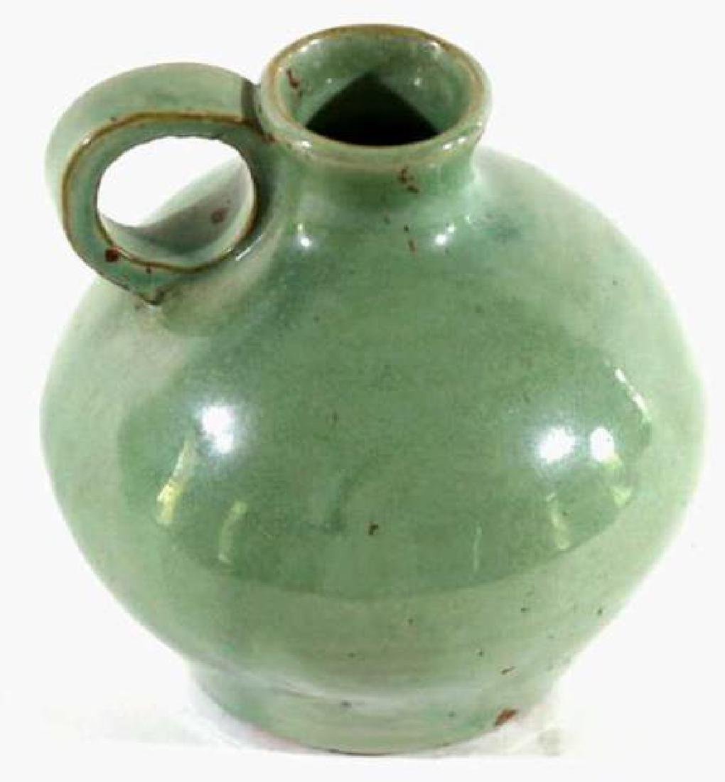 ANTIQUE SOUTHERN POTTERY FLASK - 2