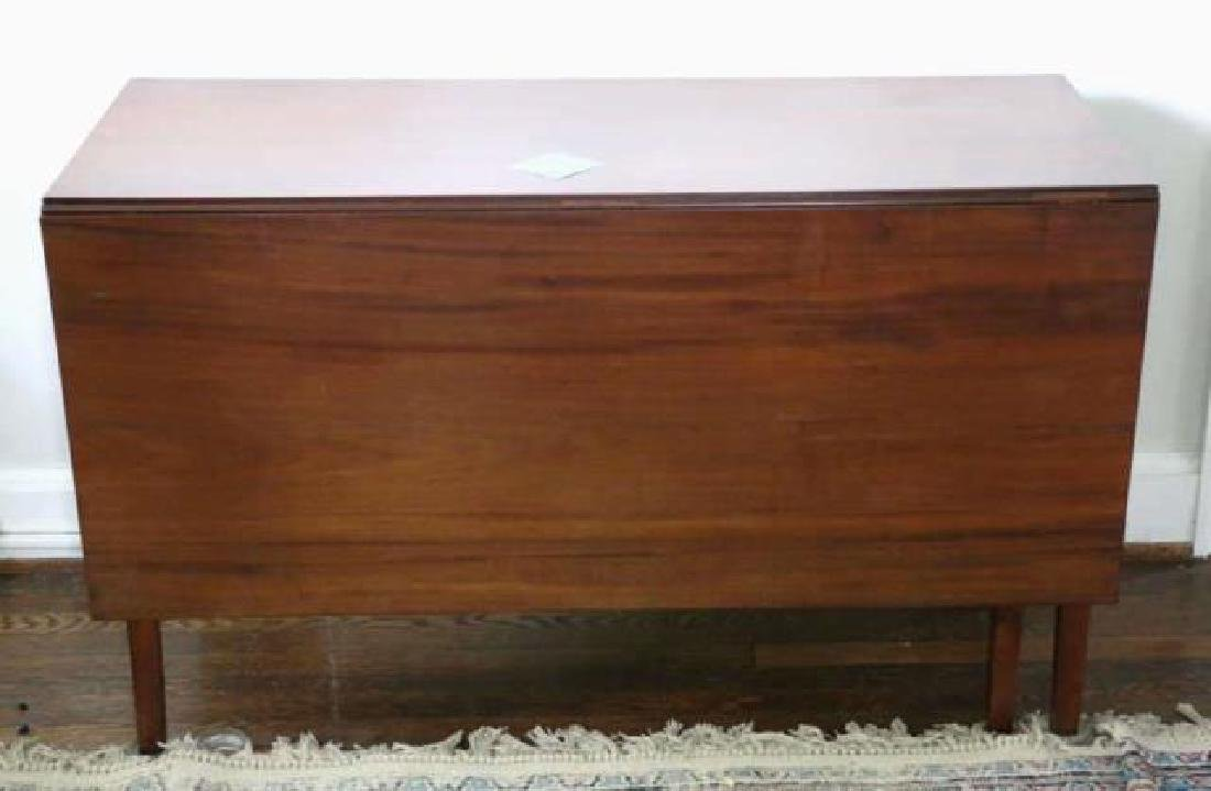 AMERCIAN WALNUT TAPERED LEG DROP SIDE TABLE