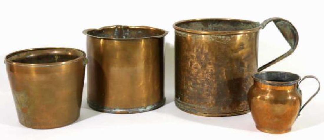 ANTIQUE COPPER GROUPING - 4