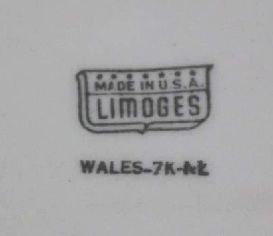 LIMOGES ANTIQUE FLORAL PLATTER - 5