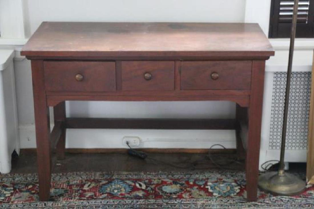 AMERICAN SOUTHERN THREE DRAWER WRITING TABLE