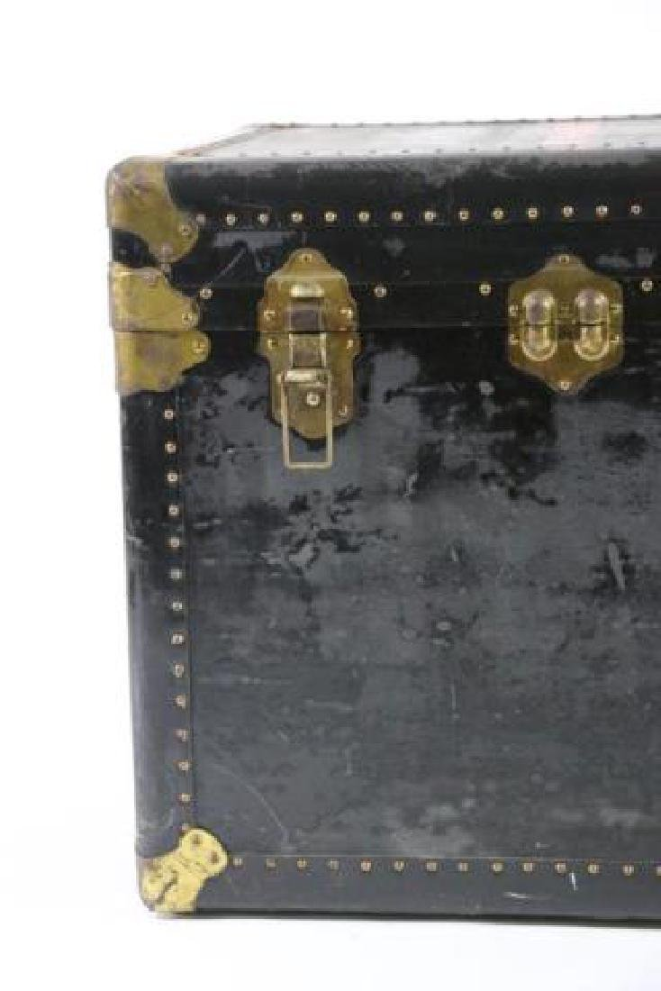 INDESTRUCTO  LEATHER NAIL TRIMMED STEAMER TRUNK - 5