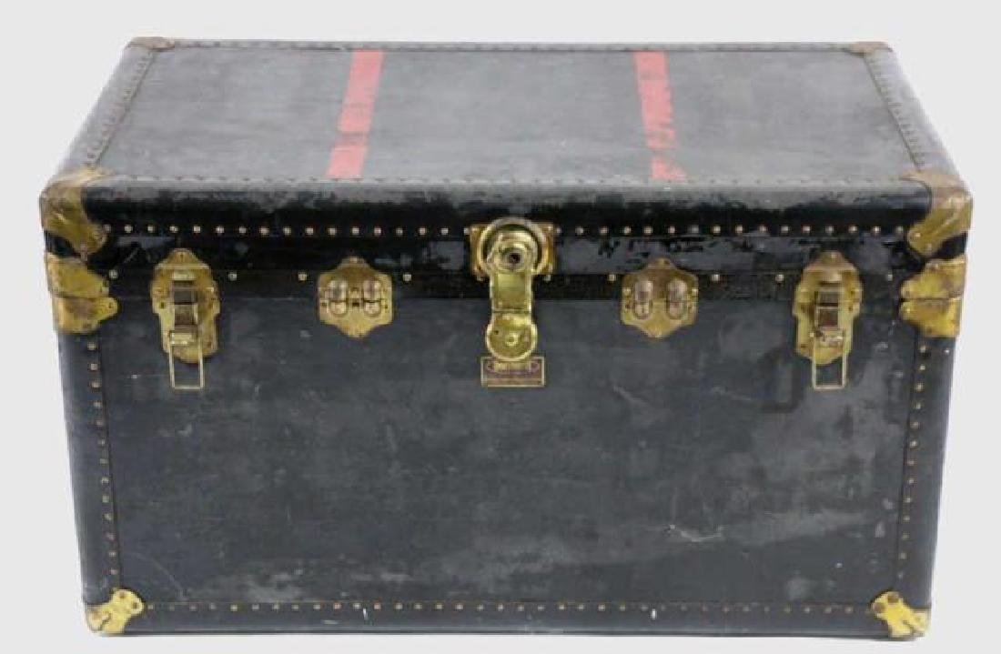 INDESTRUCTO  LEATHER NAIL TRIMMED STEAMER TRUNK - 6