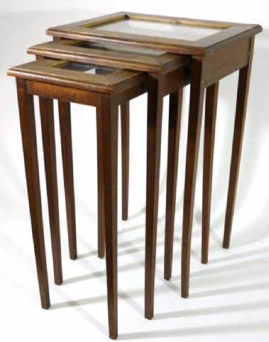 WALNUT VINTAGE NESTING TABLES