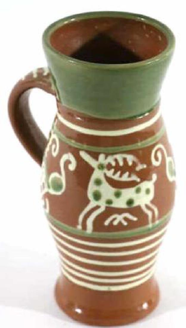 "OLD SALEM ""CZECH "" SEAGROVE TERRACOTTA STEIN"