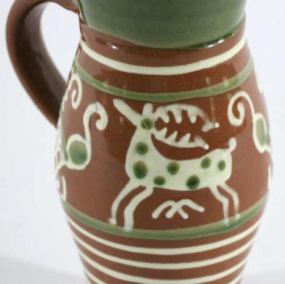 "OLD SALEM ""CZECH "" SEAGROVE TERRACOTTA STEIN - 5"