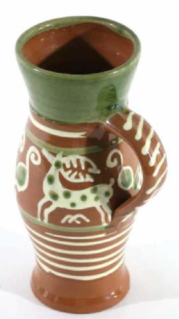 "OLD SALEM ""CZECH "" SEAGROVE TERRACOTTA STEIN - 6"
