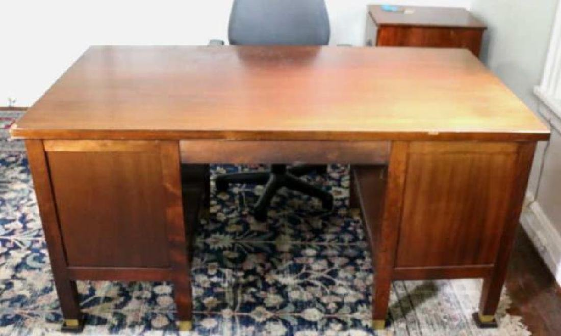 DR. MONROE WORKING MAHOGANY WRITING DESK - 3