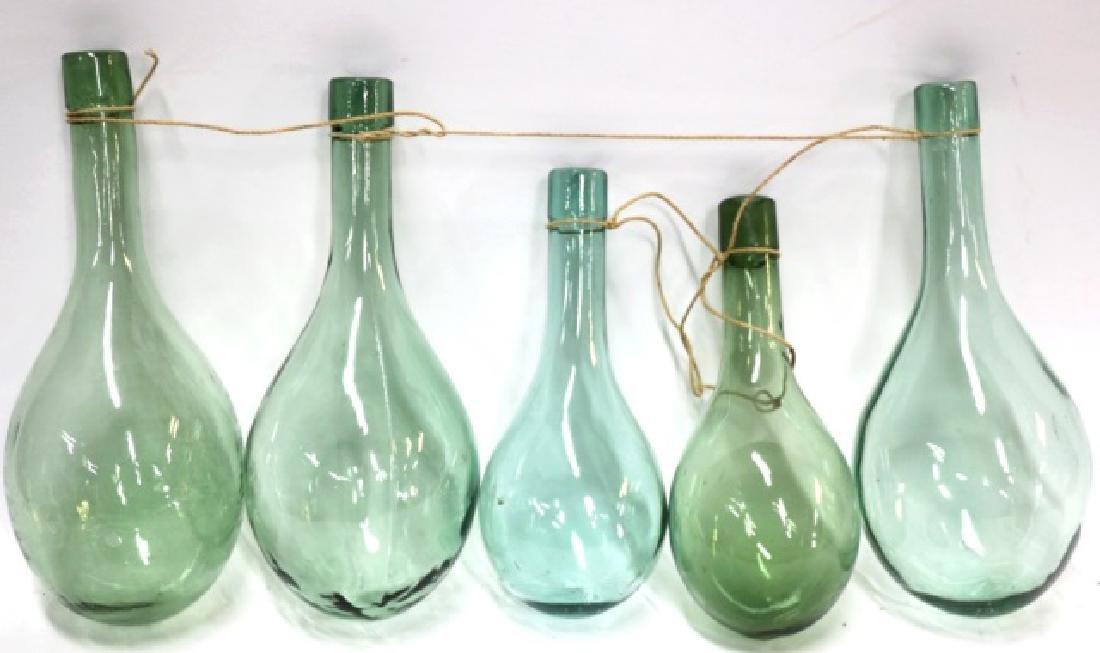ANTIQUE HAND BLOWN GLASS SHIPS BALLAST BOTTLES