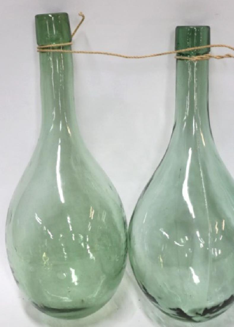 ANTIQUE HAND BLOWN GLASS SHIPS BALLAST BOTTLES - 2