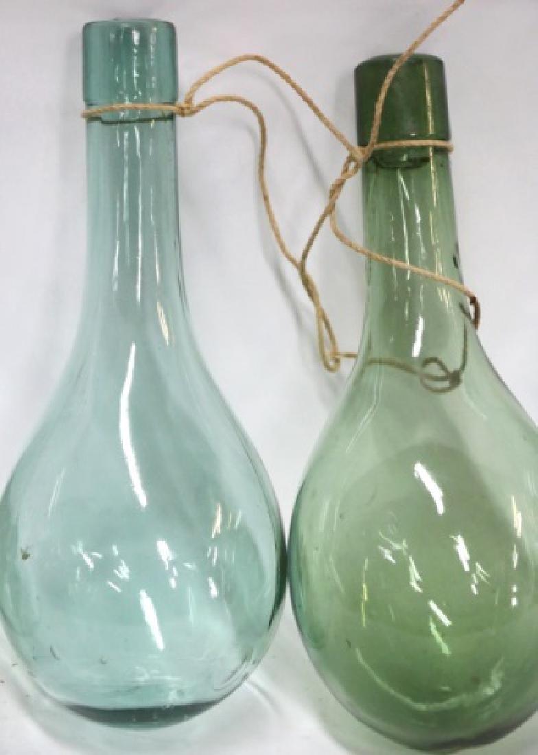 ANTIQUE HAND BLOWN GLASS SHIPS BALLAST BOTTLES - 3