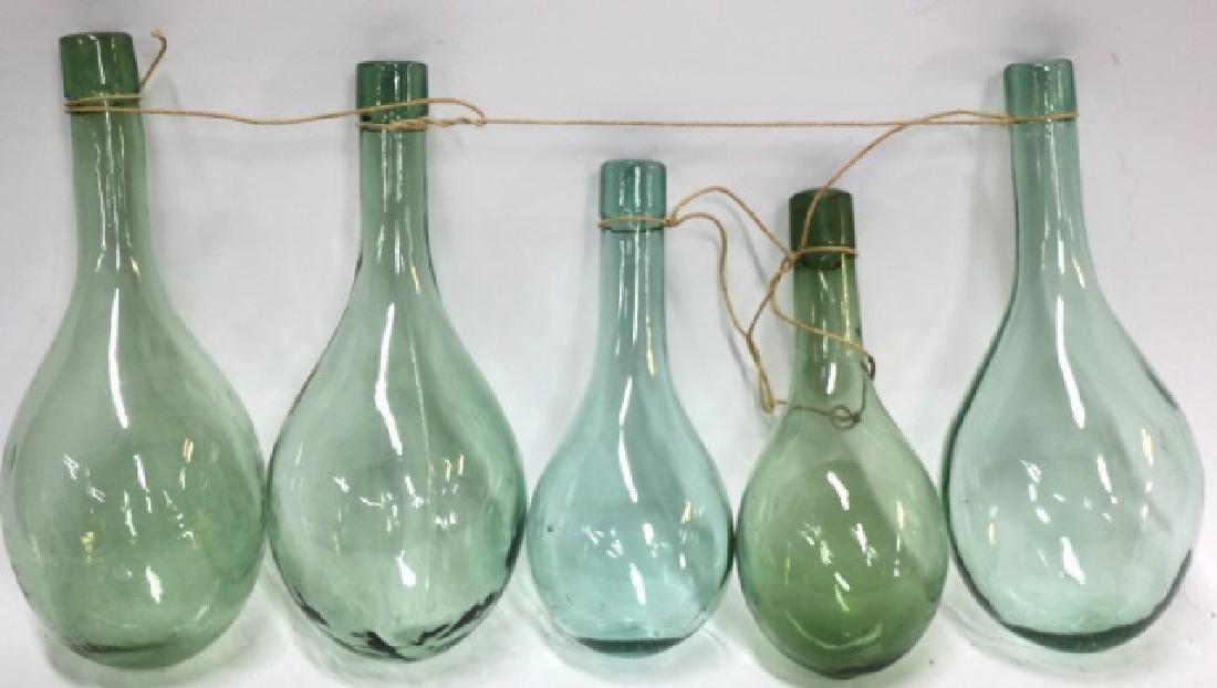 ANTIQUE HAND BLOWN GLASS SHIPS BALLAST BOTTLES - 4
