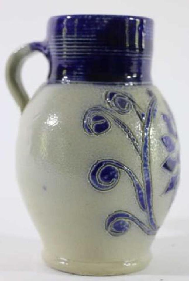 ANTIQUE SALT GLAZE PITCHER - 2
