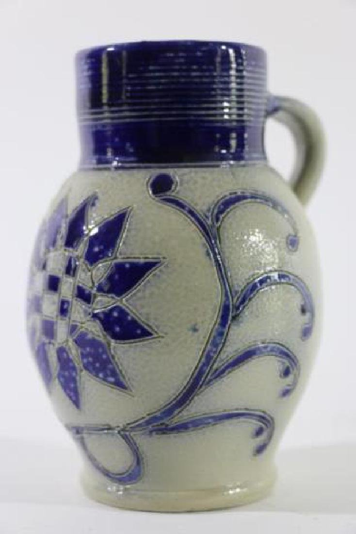 ANTIQUE SALT GLAZE PITCHER - 4