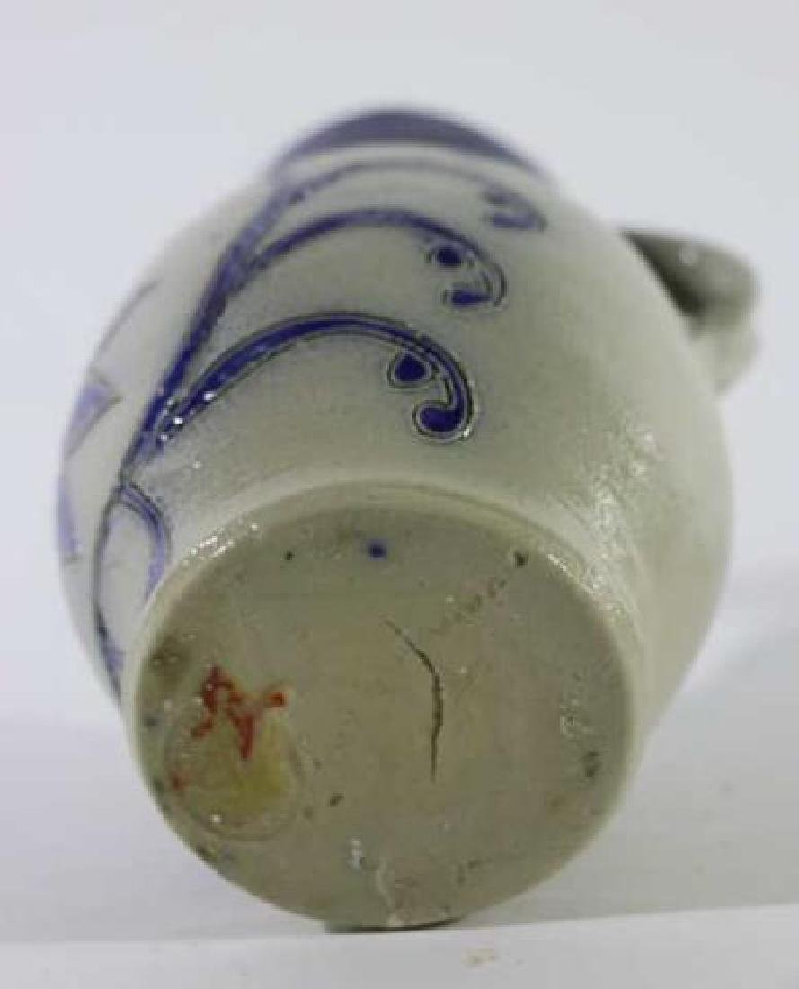 ANTIQUE SALT GLAZE PITCHER - 6