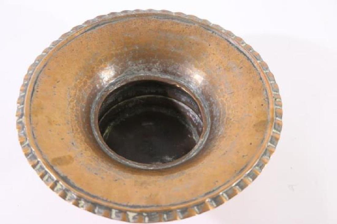 SYRIAN ANTIQUE HAND MADE COPPER BOWL - 2