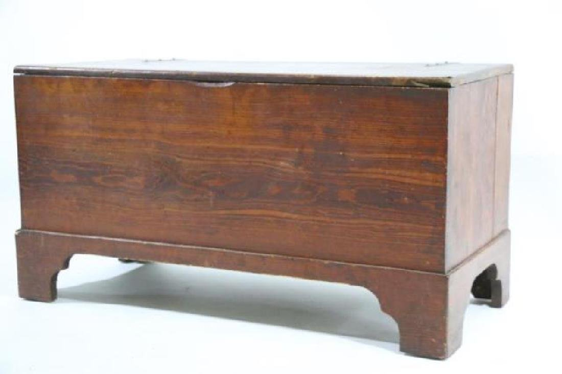 AMERICAN SOUTHERN 19TH C.YELLOW PINE BLANKET CHEST